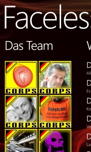 Faceless German Corps - Die App